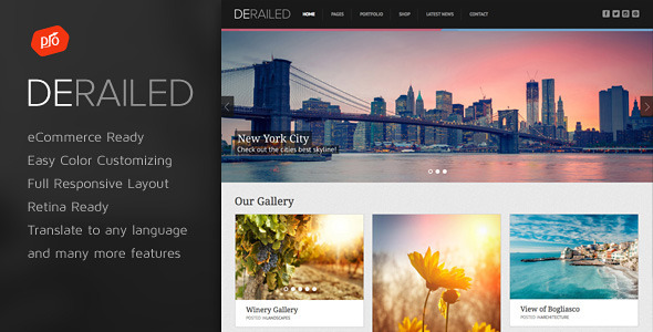 DeRailed is easy-to-customize and fully featured WordPress Theme