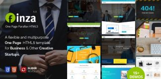 Finza – One Page Parallax Responsive Template