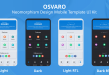 Osvaro is Neomorphism Design Mobile Template