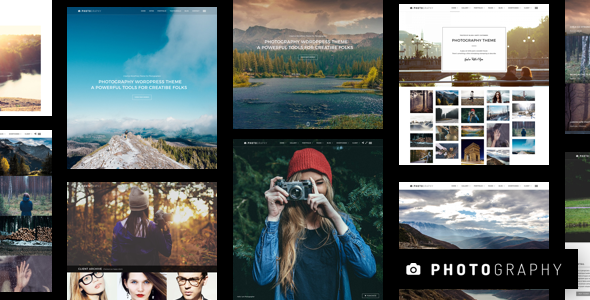 Photography is a responsive clean and minimal Wordpress theme