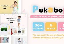 Pukapop baby shop theme.