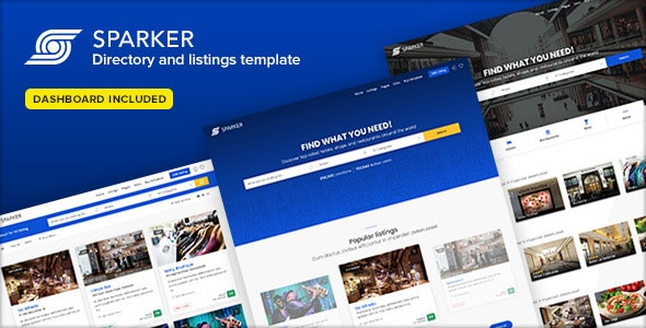SPARKER is a clean and modern HTML5 directory
