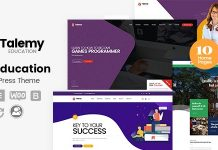 Talemy is an ideal education WordPress theme