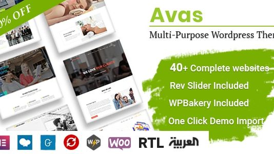 Avas is a multi-purpose responsive WordPress theme