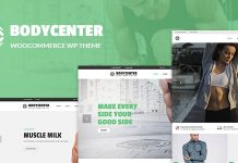BodyCenter Gym Fitness WooCommerce WordPress Theme