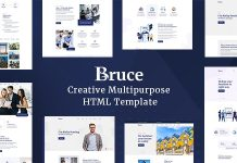 Bruce is a Powerful & flexible Creative & Business Bootstrap HTML Templat