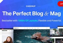 CheerUp is a luxury design WordPress blog Theme