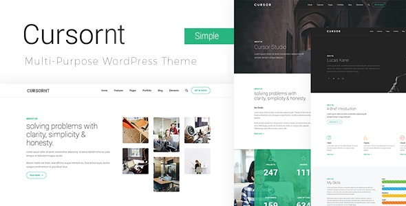 Cursornt the perfect WordPress theme for any website