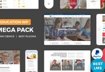 Education Pack is perfect to create an education website