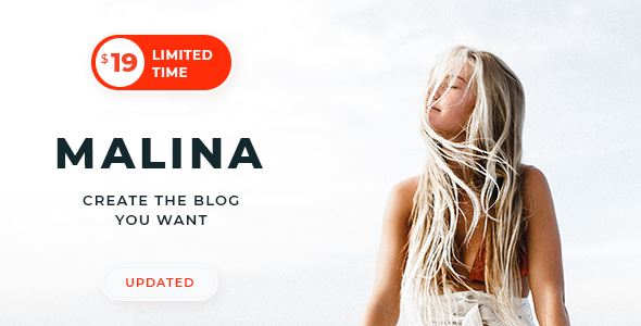 Malina is a new generation responsive WordPress