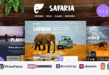 Safaria is the Zoo WordPress Theme