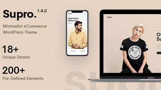 Supro is a clean & minimal AJAX WooCommerce WordPress Theme