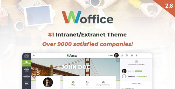 Woffice is a feature rich & powerful Multipurpose Intranet WordPress theme