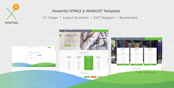 Powerful WHMCS7 & HTML5 Web Hosting Template